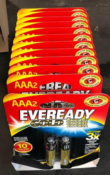 36299 - AAA Eveready Gold Batteries - 2 ct USA